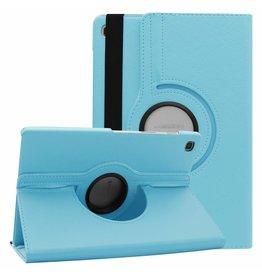 Case2go Samsung Galaxy Tab S5e hoes - Draaibare Book Case - Licht Blauw