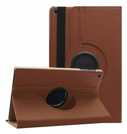 Serise Samsung Galaxy Tab A 10.1 (2019) hoes - Draaibare Book Case - Bruin