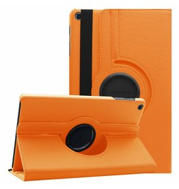Serise Samsung Galaxy Tab A 10.1 (2019) hoes - Draaibare Book Case - Oranje