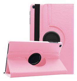 Serise Samsung Galaxy Tab A 10.1 (2019) hoes - Draaibare Book Case - Roze