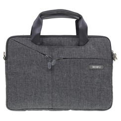 WiWu - 12 inch Laptoptas City Commuter Bag - Grijs