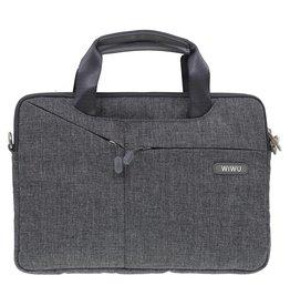 WIWU WiWu - 12 inch Laptoptas City Commuter Bag - Grijs
