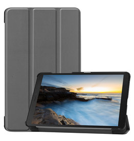 Cover2day Samsung Galaxy Tab A8 (2019) hoes - Tri-Fold Book Case - Grijs