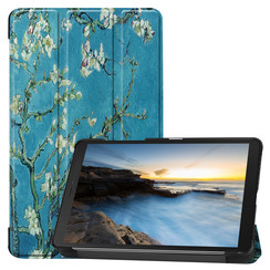 Samsung Galaxy Tab A8 (2019) hoes - Tri-Fold Book Case - Witte Bloesem