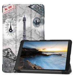 Cover2day Samsung Galaxy Tab A8 (2019) hoes - Tri-Fold Book Case - Eiffeltoren