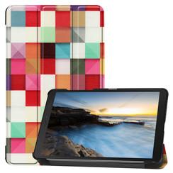 Samsung Galaxy Tab A8 (2019) hoes - Tri-Fold Book Case - Blocks