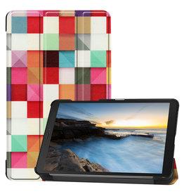 Cover2day Samsung Galaxy Tab A8 (2019) hoes - Tri-Fold Book Case - Blocks