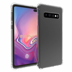 Samsung Galaxy S10 Plus hoes - Anti-Shock TPU Back Cover - Transparant