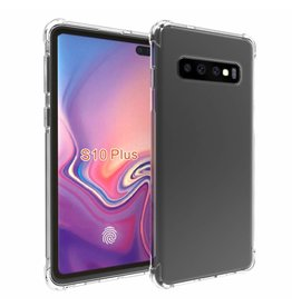 Atouchbo Samsung Galaxy S10 Plus hoes - Anti-Shock TPU Back Cover - Transparant