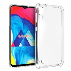 Samsung Galaxy M10 hoes - Anti-Shock TPU Back Cover - Transparant