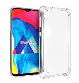Atouchbo Samsung Galaxy M10 hoes - Anti-Shock TPU Back Cover - Transparant