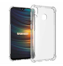 Atouchbo Samsung Galaxy M20 hoes - Anti-Shock TPU Back Cover - Transparant