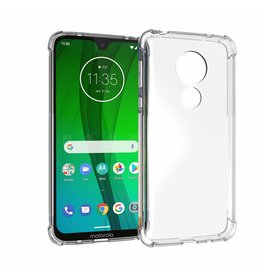 Atouchbo Motorola Moto G7 hoes - Anti-Shock TPU Back Cover - Transparant