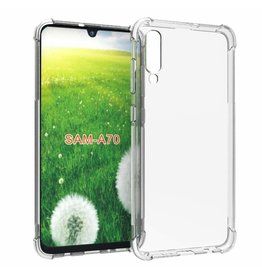 Atouchbo Samsung Galaxy A70 hoes - Anti-Shock TPU Back Cover - Transparant