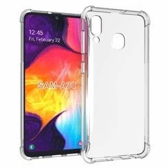 Samsung Galaxy A30 hoes - Anti-Shock TPU Back Cover - Transparant