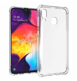 Atouchbo Samsung Galaxy A30 hoes - Anti-Shock TPU Back Cover - Transparant