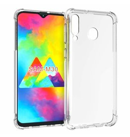 Atouchbo Samsung Galaxy M30 hoes - Anti-Shock TPU Back Cover - Transparant