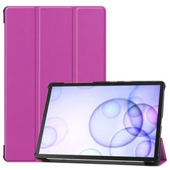 Samsung Galaxy Tab S6 hoes - Tri-Fold Book Case - Paars