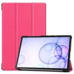 Samsung Galaxy Tab S6 hoes - Tri-Fold Book Case - Magenta