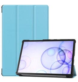 Case2go Samsung Galaxy Tab S6 hoes - Tri-Fold Book Case - Licht Blauw