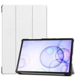 Case2go Samsung Galaxy Tab S6 hoes - Tri-Fold Book Case - Wit