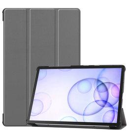 Case2go Samsung Galaxy Tab S6 hoes - Tri-Fold Book Case - Grijs