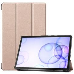 Samsung Galaxy Tab S6 hoes - Tri-Fold Book Case - Goud