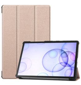 Case2go Samsung Galaxy Tab S6 hoes - Tri-Fold Book Case - Goud