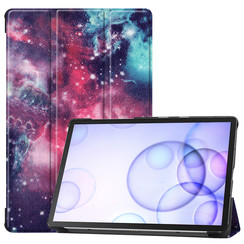 Samsung Galaxy Tab S6 hoes - Tri-Fold Book Case - Galaxy