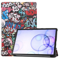 Samsung Galaxy Tab S6 hoes - Tri-Fold Book Case - Graffiti