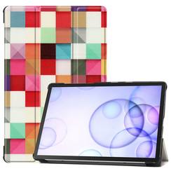 Samsung Galaxy Tab S6 hoes - Tri-Fold Book Case - Blocks