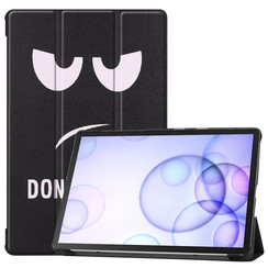Samsung Galaxy Tab S6 hoes - Tri-Fold Book Case - Don't Touch Me