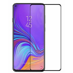 Samsung Galaxy A8s - Full Cover Screenprotector - Zwart