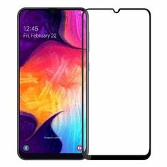 Samsung Galaxy A50 / A30S  - Full Cover Screenprotector - Zwart