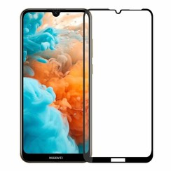 Huawei Y6 2019 - Full Cover Screenprotector - Zwart