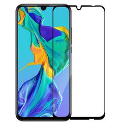 Huawei P Smart Plus 2019 - Full Cover Screenprotector - Zwart