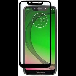 Motorola Moto G7 Play - Full Cover Screenprotector - Zwart