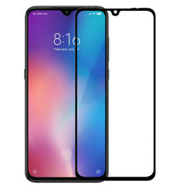 Case2go Xiaomi Redmi 7 - Full Cover Screenprotector - Zwart