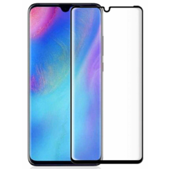 Huawei Y7 2019 - Full Cover Screenprotector - Zwart