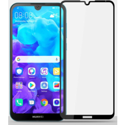 Huawei Y5 2019 - Full Cover Screenprotector - Zwart