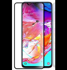 Case2go Samsung Galaxy A70 - Full Cover Screenprotector - Zwart