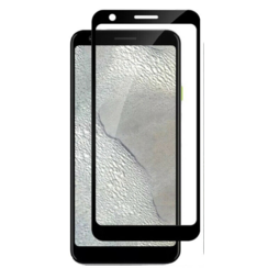 Google Pixel 3a XL - Full Cover Screenprotector - Zwart