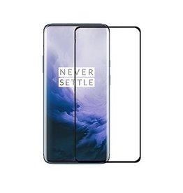 Case2go OnePlus 7 Pro - Full Cover Screenprotector Folie -Zwart