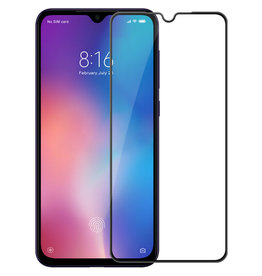 Case2go Xiaomi Mi 9 SE - Full Cover Screenprotector - Zwart