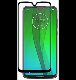 Case2go Motorola Moto G7/G7 Plus - Full Cover Screenprotector - Zwart