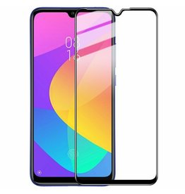 Case2go Xiaomi Mi A3 Lite - Full Cover Screenprotector - Zwart