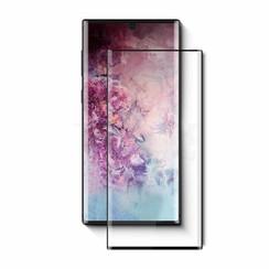 Samsung Galaxy Note 10+ - Full Cover Screenprotector - Zwart