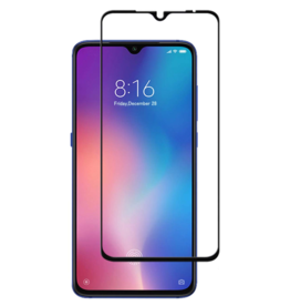 Case2go Xiaomi Mi 9 - Full Cover Screenprotector - Zwart