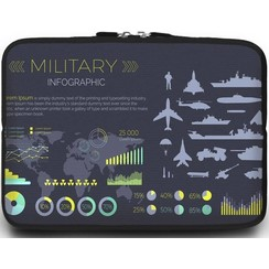 Macbook en Laptop sleeve - 13.3 inch - Military Infographic