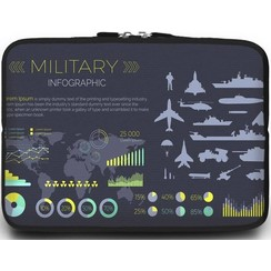 Universele Laptop Sleeve - 15.6 inch - Military Infographic